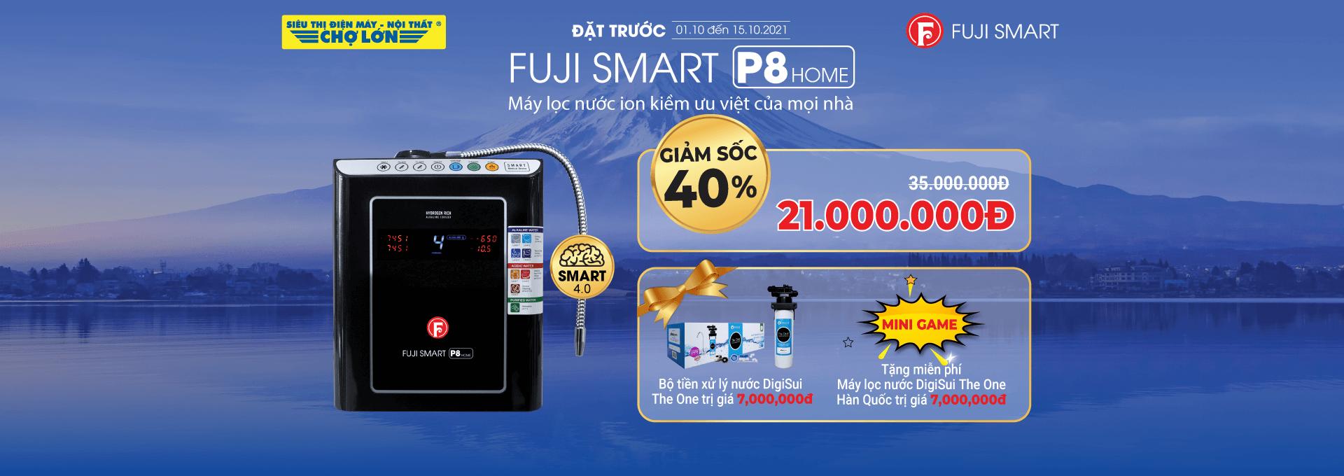 Máy Lọc Nước Điện Giải Ion Kiềm Fuji Smart P8 Home