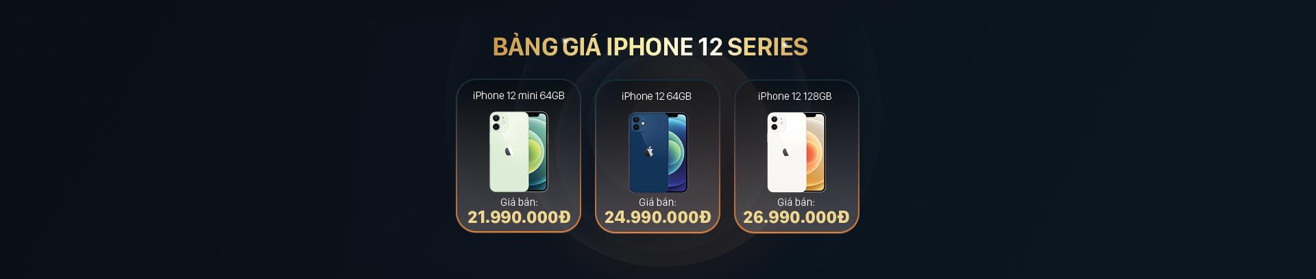 bảng giá điện thoại iphone 12