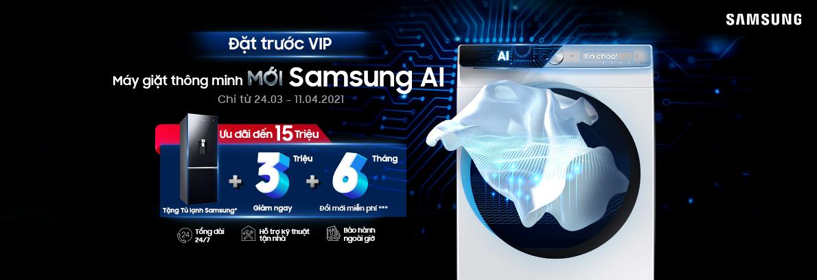 Máy giặt thông minh Samsung AI
